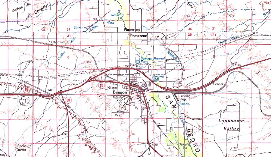 Map Of Arizona Fault Lines.San Pedro River Ecology