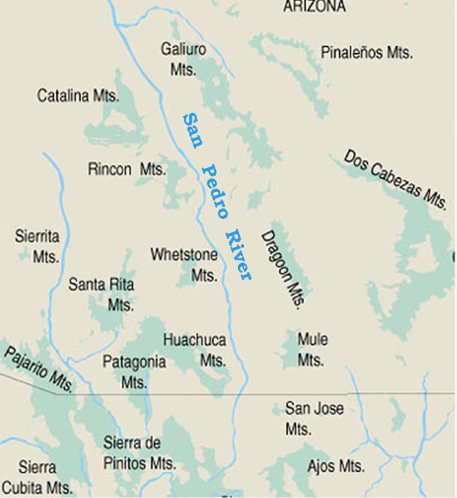san pedro river arizona map San Pedro River Ecology